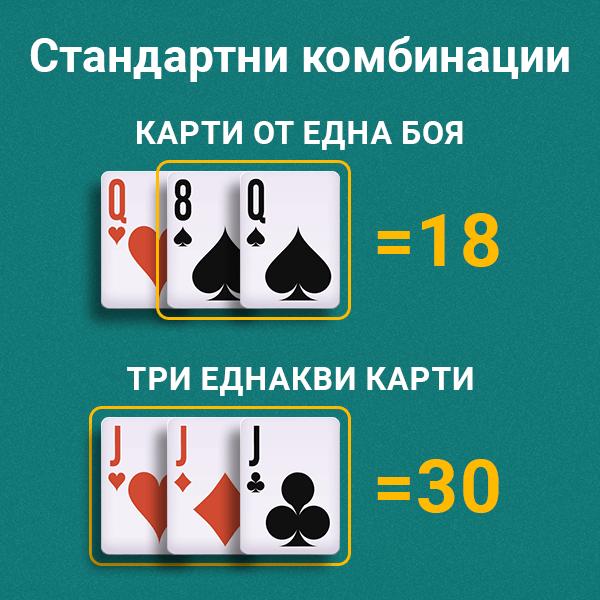 Стандартни комбинации при игра на Свара